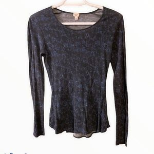 Wilfred xs black and blue long sleeve shirt